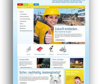 Broschüren und Website, Bildungskommunikation, RWE