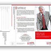 Flyer für Steuerberater, Caritas Stiftung Deutschland
