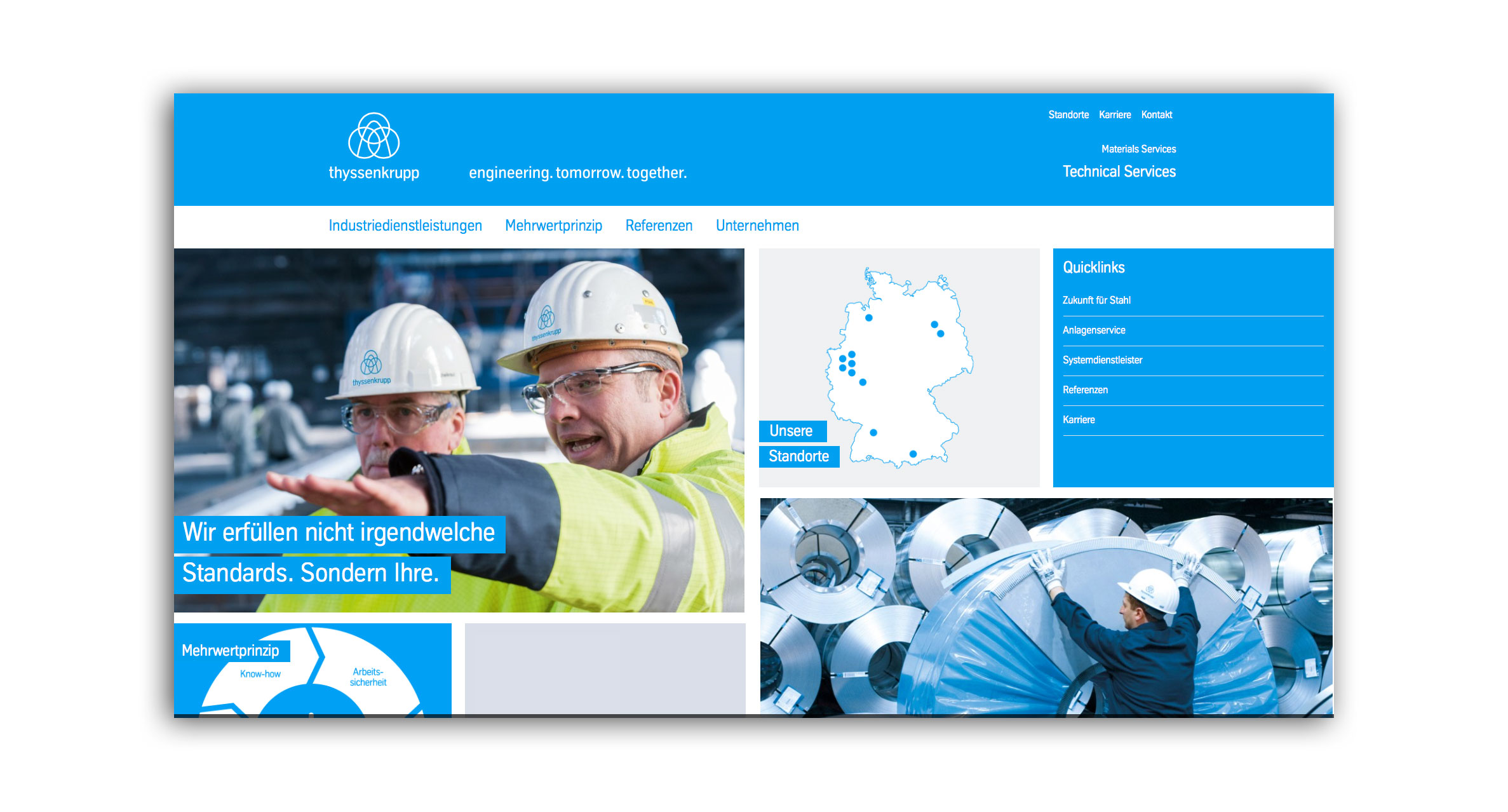 Website thyssenkrupp MillServices & Systems