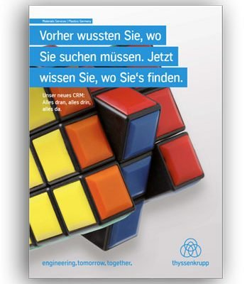 Inhouse-Poster für interne Kampagne bei thyssenkrupp.