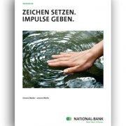 Bekannte Marke im neuen Gewand: Die Neupositionierung der Essener National-Bank erforderte erklärende Worte für Kunden und Mitarbeiter.